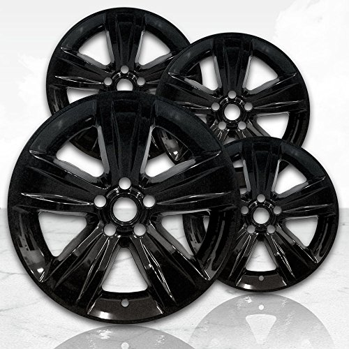 "Upgrade Your Auto 18"" Gloss Black Wheel Skins (Set of 4) for 2015-2017 Dodge Challenger - 2521"