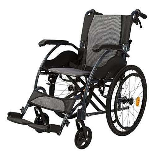 SPAQG opvouwbare transportstoel, het lichtste transportgereedschap, lichte rolstoel, 17,3 inch zitting, geschikt om uit te gaan, reizen, spelen