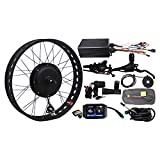 Ebike Fat Tire Electric Bicycle 48V 1500W Motor Conversion Kit Snow Fat Tire Rear/Front Wheel 20'' 24' 26' (26 inch, 190mm Rear)