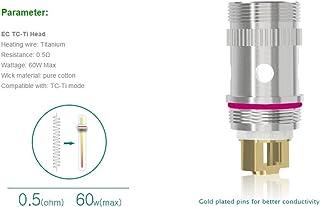 Eleaf iJust2 MELO/MELO2 温度管理用 コイル5個入り EC TC Head-Ti/Ni 電子タバコ VAPE (EC TC-Ti Head 0.5Ω)
