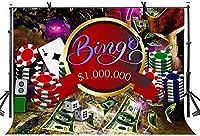 HD 10x7ftカジノ背景ポーカーチップスギャンブルテーマパーティー背景カジノクラブ装飾壁紙LY199