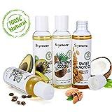 Skymore Huile de Massage, 100% Pur et naturel ingrédient, Huile d'Amande, Huile de Ricin, Huile de Coco, Huile d'Avocat, Huile...
