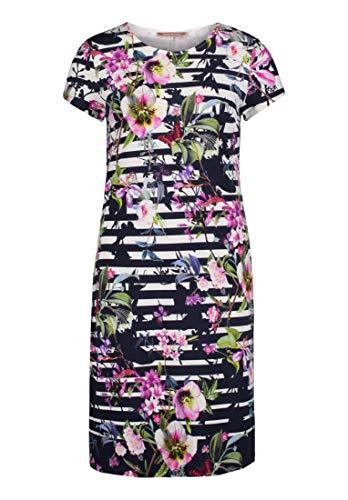 Betty Barclay Damen 3994/2993 Kleid, Mehrfarbig (Dark Blue/Pink 8845), (Herstellergröße: 38)