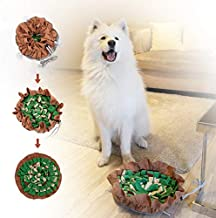 FAT CHAI & MARK Dog Snuffle Mat, Enrichment Toys for Smart Dogs, Interactive Food Puzzle Mental Stimulation Toys to Keep Dogs Busy, Adjustable Pet Snuffle Bowl Mat for Slow Feeding