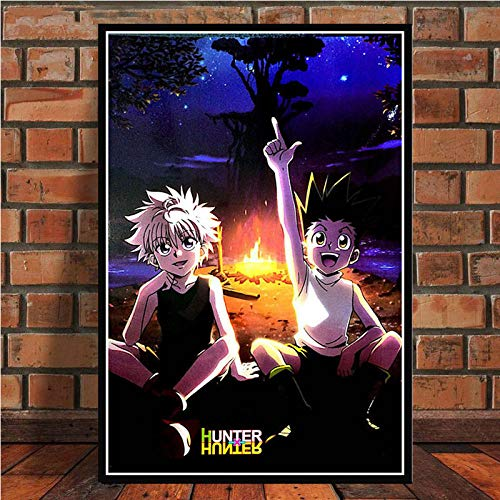 Brandless Hot Hunter x Hunter Anime Killua Zoldyck GON Freecss Pintura Art Poster Print Canvas Decoración para el hogar Picture Wall Print-40x60cm sin Marco