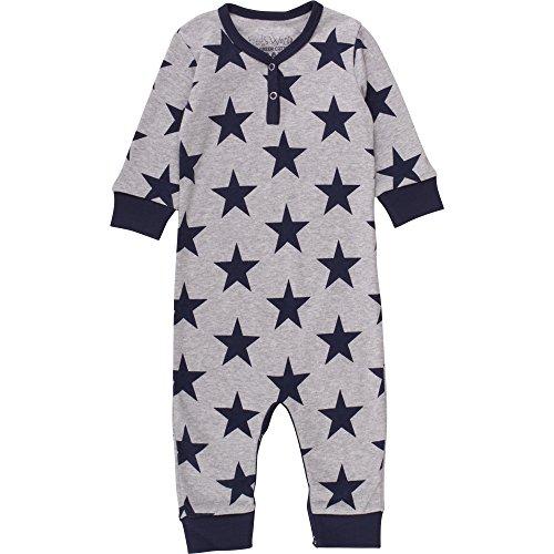 Fred'S World By Green Cotton Star Bodysuit, Body Mixte bébé, Gris (Pale Greymarl 207670000), 3 Ans
