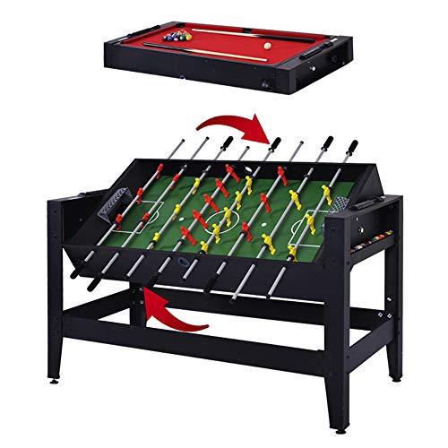 Multigame Spieletisch Mega 2 in 1 Tischkicker & Billard, inkl. komplettem Zubehör,Höhenverstellbare Füße, auf Schadstoffe getestet, 137 x 60,5 x 81,5 cm, 31,3 kg Tischkicker Tischfußball Kicker