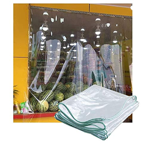SHIJINHAO Waterproof Windproof Transparent Tarpaulin Thicken Enveloped Edge Foldable Clear Tarp With Metal Hole Eye Plastic For Car Vegetation, 21 Sizes (Color : Clear, Size : 2x2.5m)