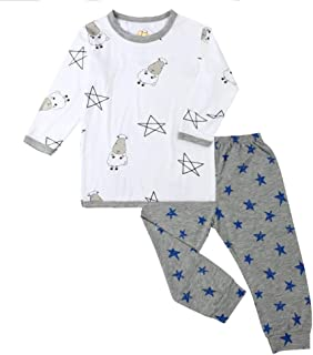 Baa Baa Sheepz Pyjamas Set, White/grey, 5-6T