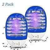 Zorara Elektrischer Insektenvernichter Lampe, 【2PCS】 Moskito Killer Lampe UV, Mückenkiller Elektrisch Mückenfalle Insektenfalle Mückenfalle, 2W Plug-in Indoor Fliegenfalle für Zu Hause Schlafzimmer