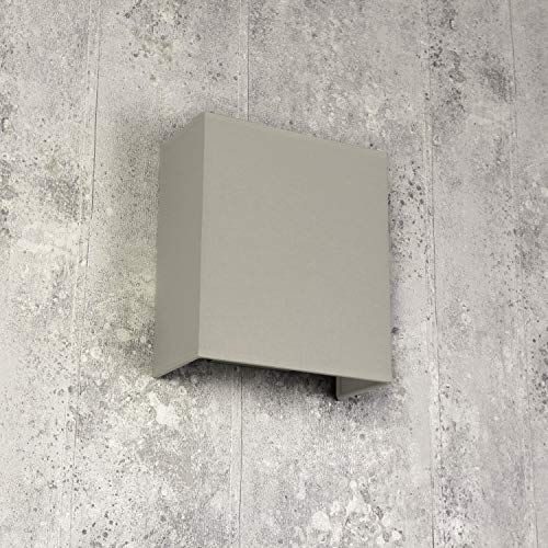 Loft wandlamp stoffen kap gips grijs loft design E27 wandlamp woonkamer hal