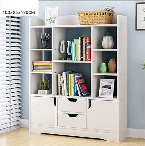 PNYGJU Massief hout Open plank Boekenplank 9 kasten, 4 laden boekenkast Vloerstaand Eenvoudige Multifunctionele Opslagkast Eenvoudige montage Vrijstaand