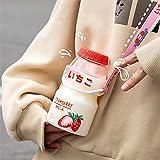 ABRC Bottiglia di plastica di Acqua Tour Drink Bottle Yakult Figura Sveglia Bottiglia Cartone del Latte Shaker per i Capretti/Ragazza/Adulti ??????? ??? ????