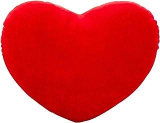 Haorw Leewadee - Cojín de peluche con forma de corazón (20 cm), color rojo