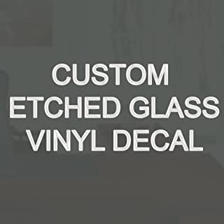 Custom Name Etched Glass Vinyl Decal Personalized Name Frosted Glass Style Decal VWAQ-CS2B (2 1/2