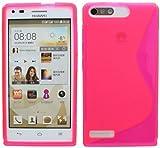 ENERGMiX S-Line TPU SchutzHülle kompatibel mit Huawei Ascend G6 Silikon Hülle in Pink