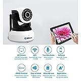 Sunluxy® Cámara Vigilancia WIFI BT470 Camara IP con Visión Nocturna Soporta Micro SD 1 Mp (720p, H.264, CCTV), Color Blanco y Negro