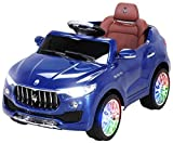 Kinder Elektroauto Levante Suv - Lizenziert - 2 x 25 Watt Motor - Lowriderfunktion - Rc 2,4 Ghz Fernbedienung - Bluetooth - Usb - Sd - Elektro Auto für Kinder ab 3 Jahre (Blau)