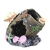 Srliya Acuario decorativo resina hueco escondite betta, accesorios de madera deriva tronco, tanque decorativo cueva, pequeño escondite de peces, decoraciones de tanque de peces Betta