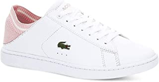 7b903edbbc8b Lacoste Carnaby EVO Duo 119 1 Womens White Light Pink Sneakers