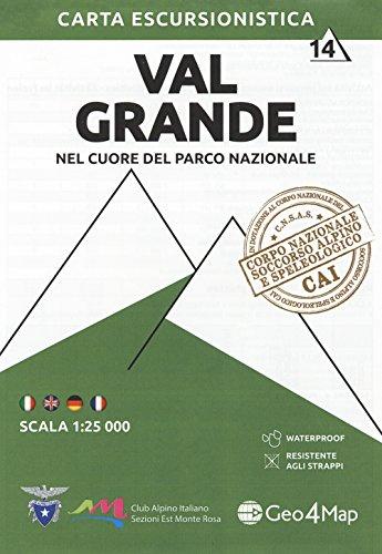 Val Grande 1 : 25.000: Nel Cuore Del Parco Nazionale [Lingua inglese]: Vol. 14
