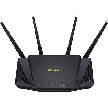 ASUS Wi-Fi 無線ルーター RT-AX3000 WiFi6(11ax)対応 デュアルバンド 高速メッシュ WiFi 【 戸建 3階建 / マンション 4LDK 】