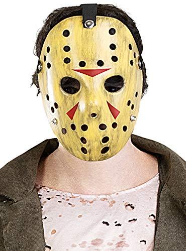 Funidelia | Maschera Jason Venerdì 13 Ufficiale per Donna e Uomo ▶ Friday The 13th, Film di Paura, Horror - Beige, Accessorio per Costume