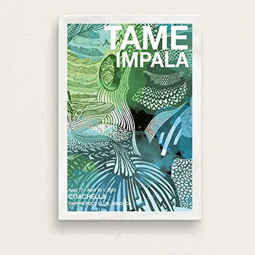 Flduod Tame Impala Psicodélico Alucinante Música Estrella Arte Pintura Vintage Home Wall Decor Poster