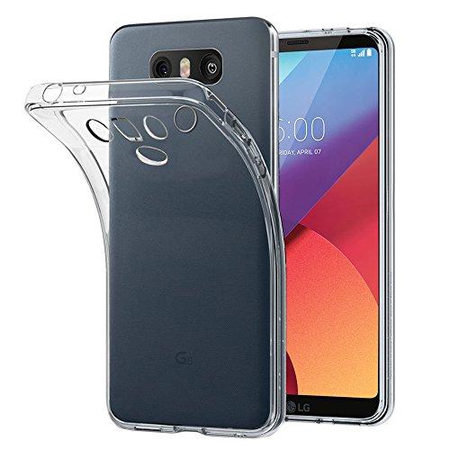 ebestStar - Cover Compatibile con LG G6 H870, G6 Dual Custodia Trasparente Silicone Gel TPU Protezione Morbida e Sottile, Trasparente [Apparecchio: 148.9 x 71.9 x 7.9mm, 5.7'']