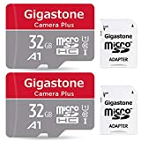 Gigastone 32GB 2-Pack Micro SD Card with Adapter, U1 C10 Class 10, Full