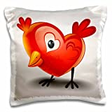 SpiritualAwakenings_Birds - Adorable baby chick shaped like a heart with heart wings - 16x16 inch...