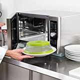 Nifogo Fold Microwave Plate Cover for Food,Microwave Food Cover with Steam Vents,Heat & Eat Microwave Plate Cover/Fruit Basket/Strainer,BAP Free and Non-Toxic (Green)