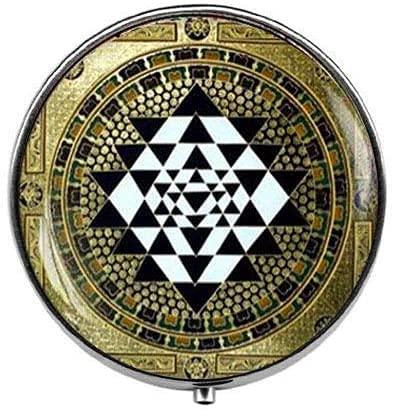 Sri Yantra - Pastillero de yoga con geometría sagrada – Caja de...