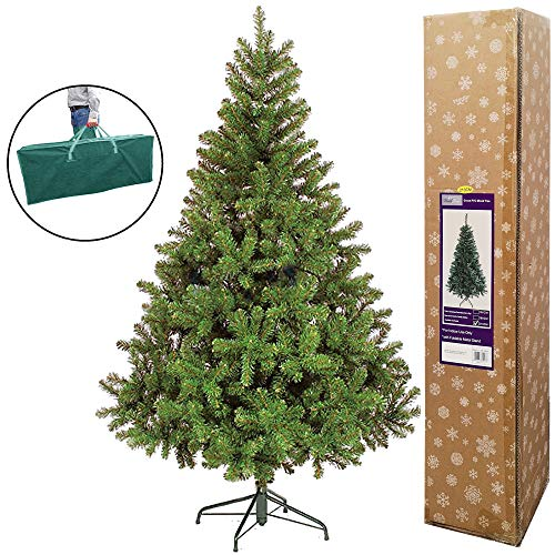 TrendMakers NEW COLORADO GREEN ARTIFICIAL CHRISTMAS TREE | 1000 TIPS & METAL STAND | FREE STORAGE BAG | 7FT / 210CM / 2.1M