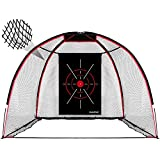 Champkey TEPRO 10' x 7' Golf Hitting Net | 5 Ply-Knotless Netting with Impact Target Golf Practice Net | Choose Between...
