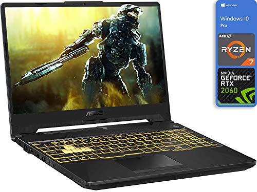 ASUS TUF A15 Gaming Laptop, 15.6' FHD Display, AMD Ryzen 7 4800H Upto 4.2GHz, 8GB RAM, 128GB NVMe SSD + 500GB HDD, NVIDIA GeForce RTX 2060, HDMI, DisplayPort via USB-C, Wi-Fi, BT, Windows 10 Pro