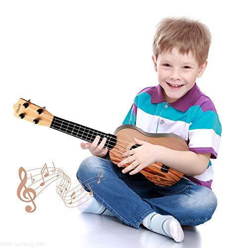 ZHENDUO 16.5'' Mini Ukulele Toy Guitar for Toddlers,...