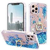Feyten Kompatibel mit iPhone 12 Pro Max Hülle (6,7 Zoll) mit Displayschutz [2 Stück],Glitzer...
