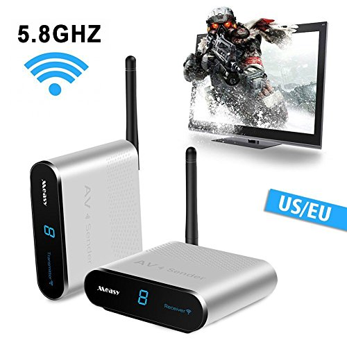 measy AV530 1000 feet/300mts TV Audio Video Sender und Empf?nger, 5.8GHZ tv Signal drahtlos übertragen Überwachungs kameras und TV Box