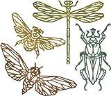 Troquel Sizzix Thinlits Set 4 piezas - Insectos Geométricos