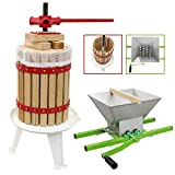 Fruit Press 12 Litre & 7 Litre Crusher Bundle Home Brewing Wine Cider Making Pupler Portable Kit Apple Juicer Grape Pear Berry Manual Shredder Scratter KuKoo