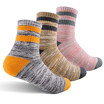 Women's Hiking Walking Socks, FEIDEER 3-Pack Outdoor Recreation Socks Wicking Cushion Crew Socks ( 3WS18103-M)