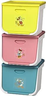 アイリスオーヤマ ボックス フラップ キッズ ディズニー 3個セット 幅38×奥行42×高さ31.3cm FLP-MK