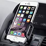 Jarv Premium Flexible Air Vent Car Holder for Apple iPhone 10 X 8 7 6S Plus Samsung Galaxy S 9 S8 S7 Plus, Note 9 8 (all 4-6.3' ) Cell Phones w/Cushioned Car Swivel Mount (with or without case)