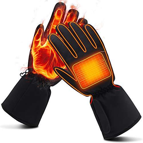 Mermaid Elektrische Beheizbare Handwärmer Handschuhe für Herren Damen Winterhandschuhe mit Wiederaufladbare Lithium-Ionen-Batterie Beheizt 3.7V