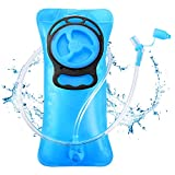 SKL Hydration Bladder 2 Liter Water Bladder Leak-Proof Hydration Pack Replacement with Upgraded Auto Shut-Off System for Hiking Running Cycling Biking Climbing Adults