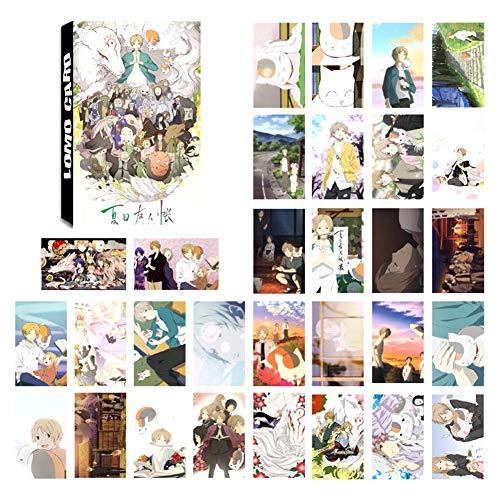 ALTcompluser Japan Anime 30 Stück Lomo Photocard/Fotokarten Set, Lomo Cards/Karten, Geschenk für Fans(Natsume Yuujinchou)