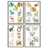 Sophies Kartenwelt Poster Set für Kinder ABC - 4