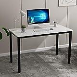 Need Escritorios 120x60cm Mesa de Ordenador Escritorio de Oficina Mesa de Estudio Puesto de trabajo Mesa de Despacho, Blanco & Negro