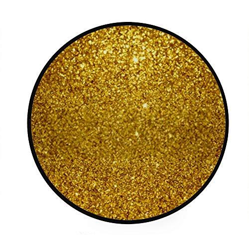 Fußmatte, nicht rund, für den Innenbereich, maschinenwaschbar, Gold-Glitzer, für Wohnzimmer, Schlafzimmer, Kinderzimmer, Spielzimmer, Durchmesser 92 cm